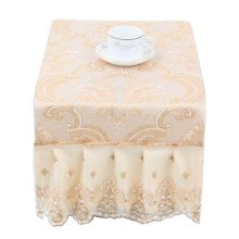 [Lace Beige] Beautiful Microwave Oven Dustproof Cover Dust Cover Cloths