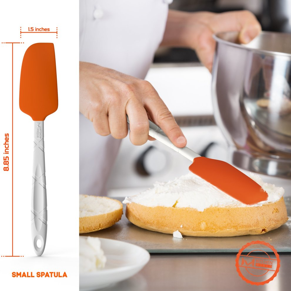 M kitchen world silicone spatula set kitchen utensils for cooking baking and mixing