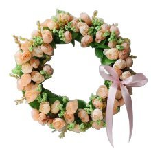 Artificial Wreath Hanging Floral Garland Door Wreath Wedding Decor #08