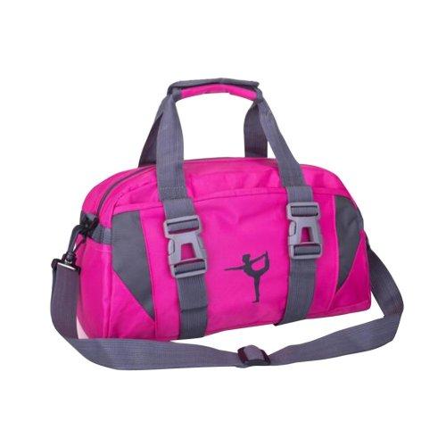 Fashion Lady Yoga Bag Practical Travel Backpack Rose Red