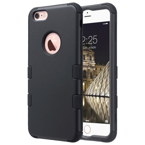 online store ade88 f3672 ULAK iPhone 6 Plus Case 5.5 Inch iPhone 6s Plus Case 3in1 Hybrid Rugged  Silicone Shock Absorption Dust Resistant Protective Hard Case Cover for...