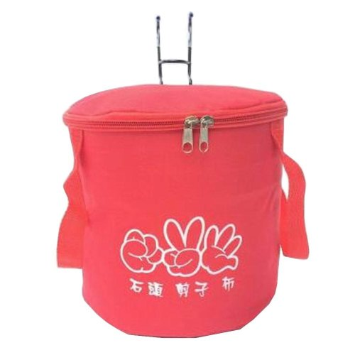 [B] Waterproof Canvas Bicycle Basket Foldable Lidded Basket for Bike