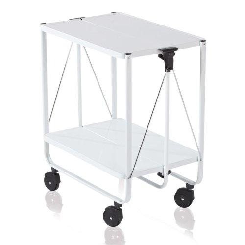 Leifheit Folding Kitchen Trolley White 74236