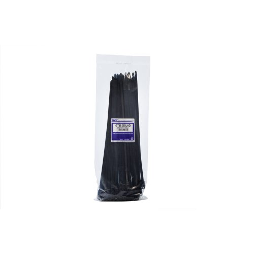 GW Wiring Products GTM-380LHDBC GW Wiring Products Ltd, Mountable Head Tie 380 x 7,6mm, Black, 100 pcs, GTM-380LHDBC - Black (100-Piece)