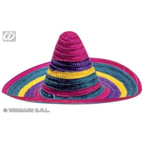 780be3f6 Adult's Multi-coloured Sombrero - Hat Mexican Straw Multicolour 50cm 1 2 - hat  sombrero mexican straw multicolour 50cm 1 2 colours accessory mexico on  OnBuy