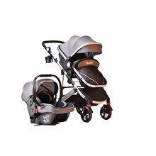 Grey 3 in 1 Combi Stroller Buggy Baby Child Pushchair Free Car Seat