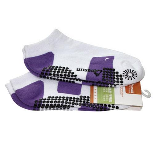 Girls Yoga Non Slip Socks Strong Grip Breathable Pilates Socks, Purple