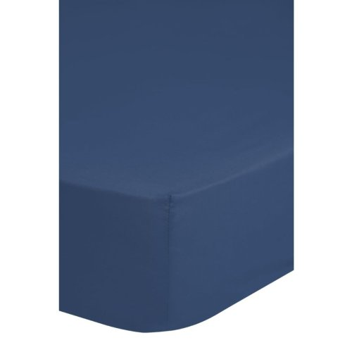 Emotion Non-iron Fitted Sheet 80x200 cm Blue 0220.24.41