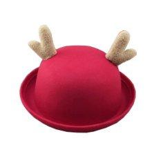Deer Style Girls Boys Kids Personalized Cute Hats Caps red Felt Hats