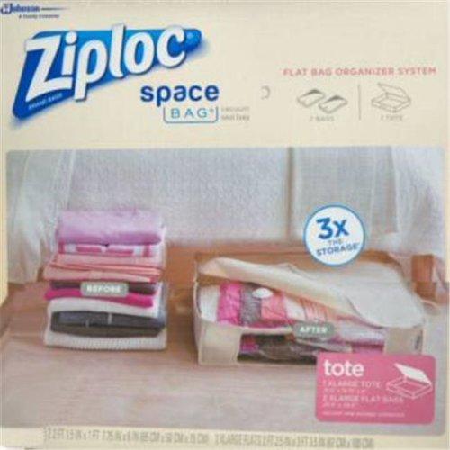 Space Bags 690899 1 Tote Ziploc Space Bags, 2XL - Pack of 2
