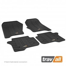 Travall Rubber Car Floor Mats [rhd] - Fiat Panda (2015-) (4pcs+fix)
