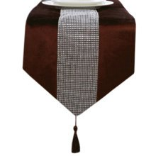 13*71 Inch, Luxury Table Runner Home Decor Bed Runner With Rhinestone Brown