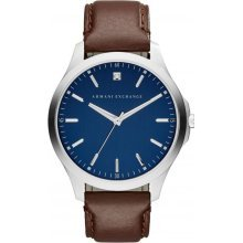 Armani Exchange Watch AX2181 Watch Diamond Brown Leather Man