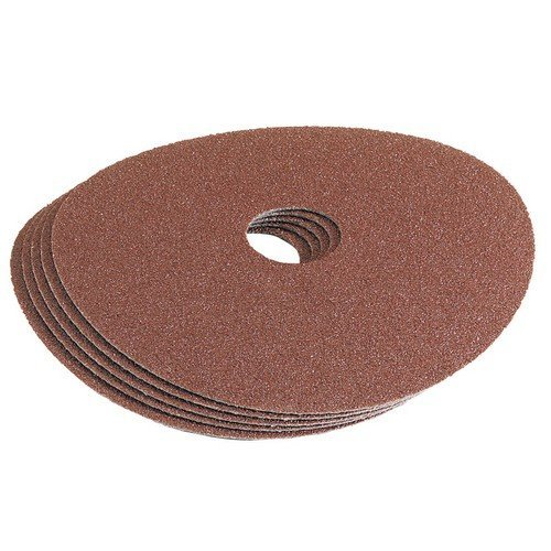 Draper 58619 115mm 120Grit Aluminium Oxide Sanding Disc Pack of 5