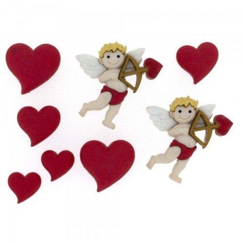 Cupid's Arrow, Valentines, Dress It Up Buttons, Scrapbooking, craft