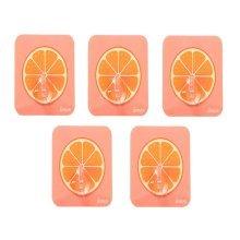 5 PCS Creative Fruit Hook Kitchen Bathroom Wall Hook, Orange