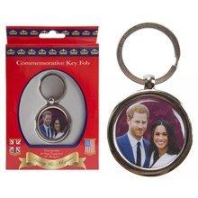 Royal Wedding Key Ring Fob May 2018 Prince Harry Meghan Markle Souvenir Keyring