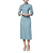 Vintage Elegant Dress Cheongsam Long Qipao Party Dresses for Women, #11