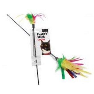 Sharples Ruff 'N' Tumble Feath 'R' Stick Cat Dangler Toy