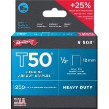 "1/2"" 1250 Piece T50 Arrow Staple Box - Staples 12mm 12in -  staples t50 arrow 1250 12mm box 12in"