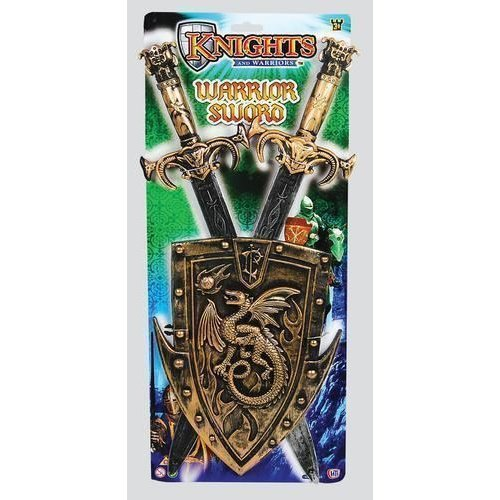 """20"""" TOY KNIGHTS AND WARRIORS SWORD & SHIELD PLAY SET FANCY DRESS CHILDRENS KIDS"""
