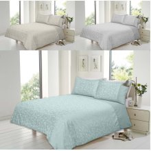 Florence Cotton Rich Jacquard Duvet Quit Cover Bedding Set