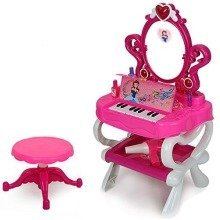 deAO Girls Princess Style Dressing Table Play Set with Light & Sound