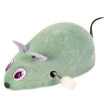 Wind Up Mouse, 7cm - Mouse Trixie Felt Cat Plastic Toy -  mouse up trixie wind felt cat plastic 7 cm toy