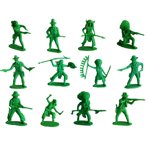 60 Pcs Toy Soldiers Gifts /Cars/Trucks /Tractors/Toy Guns Models -Green 1:36