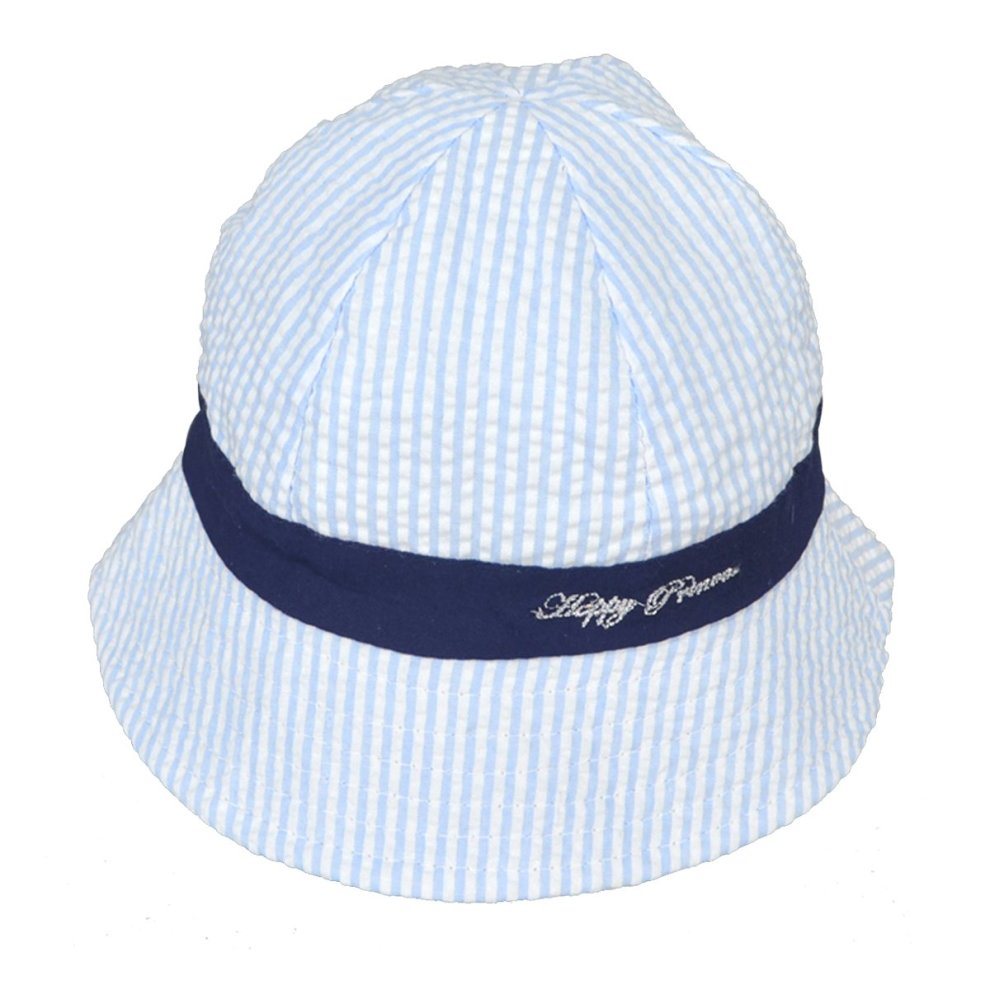 7aaf46c5 ... Millya Infant Baby Toddler Solid Brim Stripe Sun Protection Hat 100%  Cotton (Blue- ...