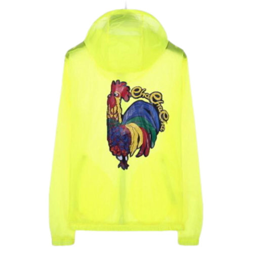 Waterproof Luminous Sun Protective Cool Cock Clothing Cycling Climbing Long Sleeve Shirts-Yellow