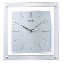 Seiko QXA330S Elegant Analogue Wall Clock - Silver
