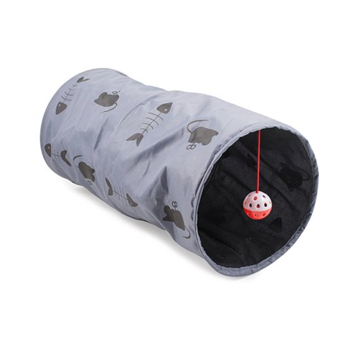 Acticat Play Tunnel Grey Small 50cm