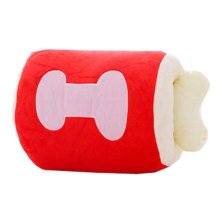 Cute Bone Hand Warmer Pillow Soft Detachable Hand Warmer Cushion,Red,15.7''