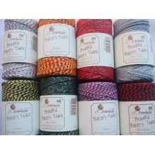 100m Roll of Bakers Twine Large range of Metallic and multistriped colours