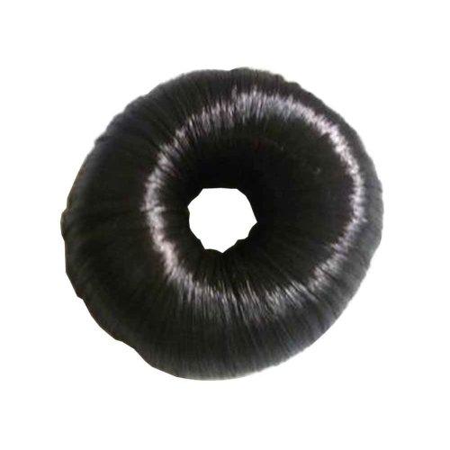 Set of 2 Fake Hair Buns, Hair Donut, Easy to Wear [Black Brown]