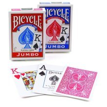 Bicycle International Jumbo index. Colours vary 1 deck supplied