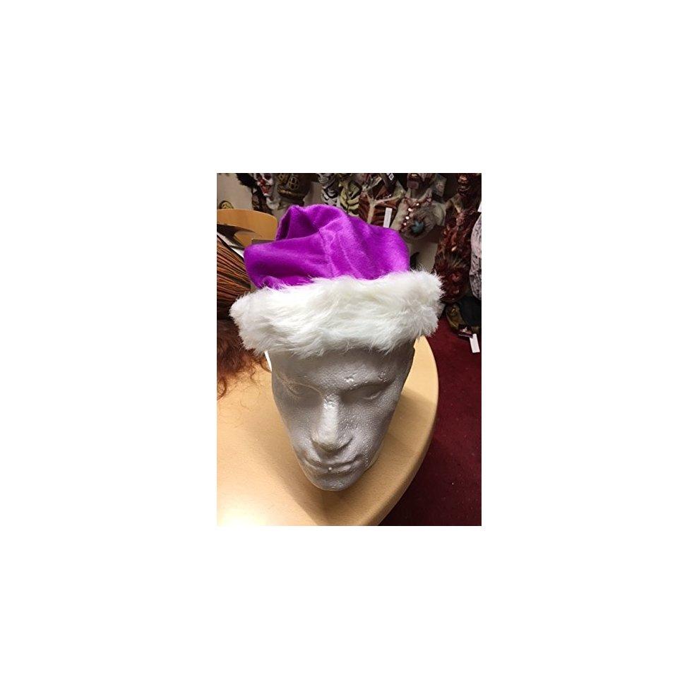 Santa Hat Plush Fine Purple 45cm Long - Christmas Festive Fancy Dress  Accessory - santa hat ... f7512e222fc5
