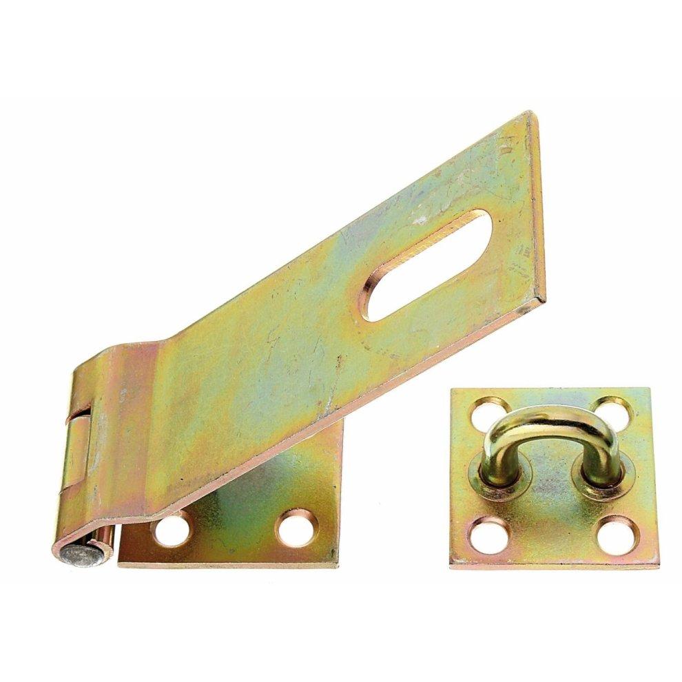 Stahl roh galvanisch gelb verzinkt Gah-Alberts 310332 Klinken-Set f/ür Tore L/änge: 250 mm