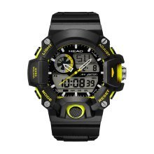 Head Freeride HE-105-01 Gents Watch 57 Mm Digital/Analogue Black And Yellow