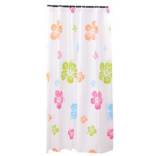 Water-Repellent Shower Curtain Liners With Colorful Flowers(180CM*200CM)