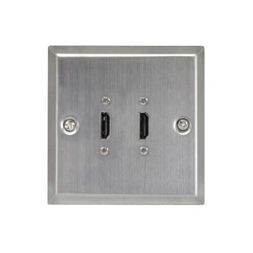 HDMI Double Steel Wallplate