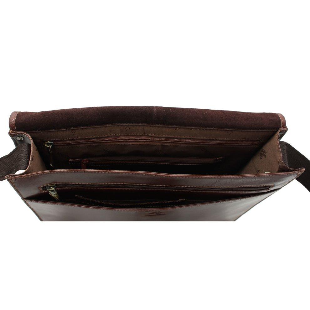 7f25987cfc7 ... Visconti Aldo Vintage Tan Leather Briefcase VT7 - 4 ...