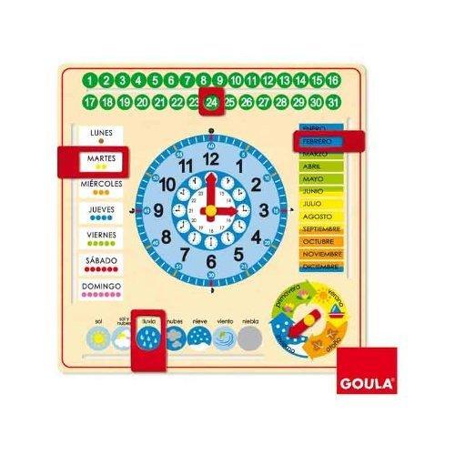 Goula–Clock and Calendar, Educational Material (Diset 51305) English Language not guaranteed