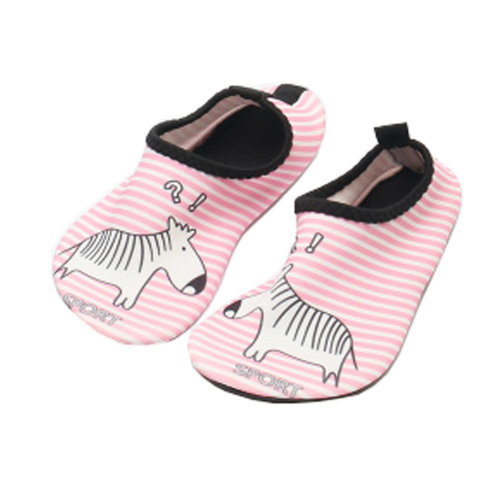 Children Sand Socks Water Skin Shoes Diving Socks,Pink Horse 19.5cm