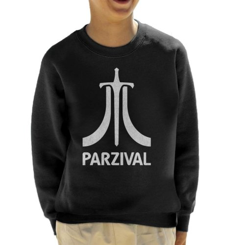 Parzival Atari Inspired White Text Kid's Sweatshirt
