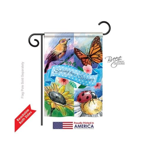 Breeze Decor 54085 Floral Spring Has Sprung 2-Sided Impression Garden Flag - 13 x 18.5 in.