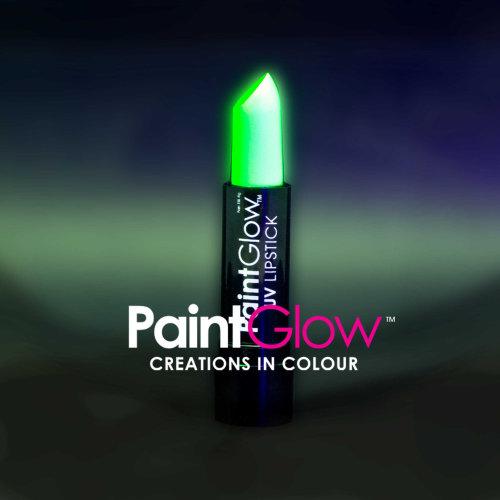 Uv Lipstick, Green, 4g - Lipstick Neon Glow Party Make Up Paintglow Fluorescent -  uv lipstick neon glow party make up paintglow fluorescent green