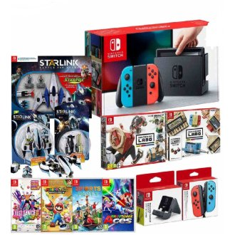 Nintendo Switch Mega Bundle with 5 Games + Lots More