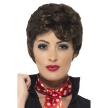 Brown Short Grease Rizzo Wig